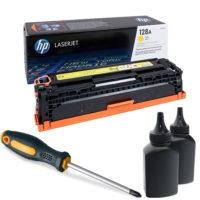 заправка картриджа HP 128A (CE322A)