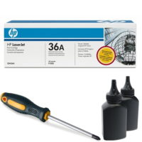 заправка картриджа HP 36A (CB436A)