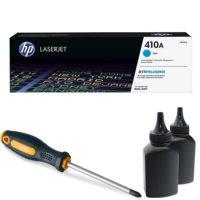 заправка картриджа HP 410A (CF411A)