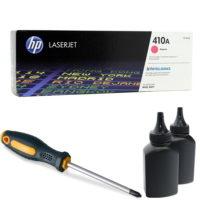 заправка картриджа HP 410A (CF413A)