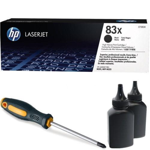 заправка картриджа HP 83X (CF283X)