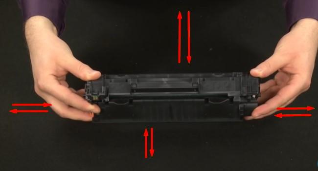 поменять картридж на лазерных принтерах HP 4