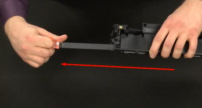 поменять картридж на лазерных принтерах HP 5
