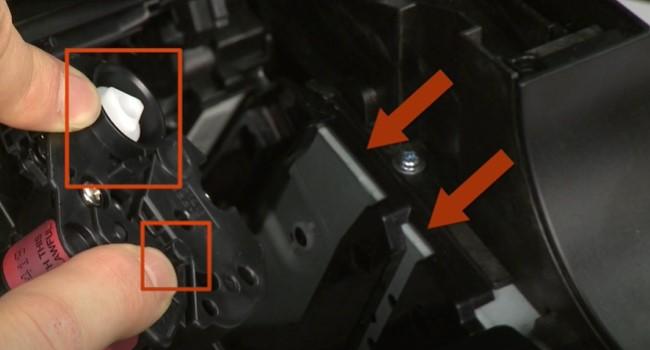 поменять картридж на лазерных принтерах HP 7