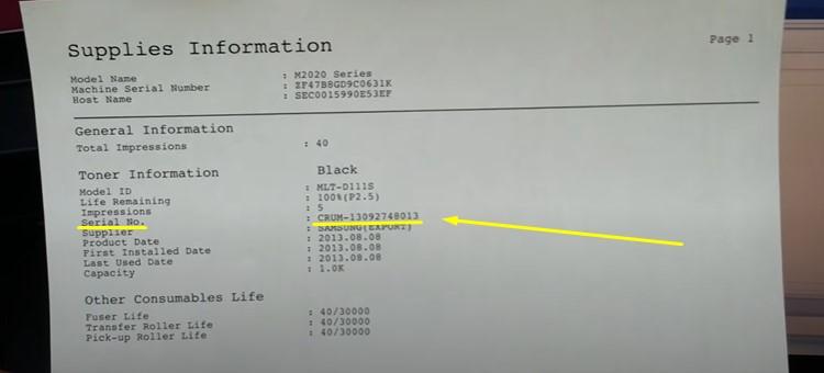 supplies information m2020