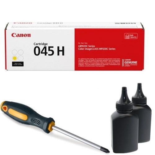 заправка картриджа Canon 045H Y (1243C002AA) в Москве