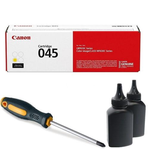 заправка картриджа Canon 045Y (1239C002AA) в Москве