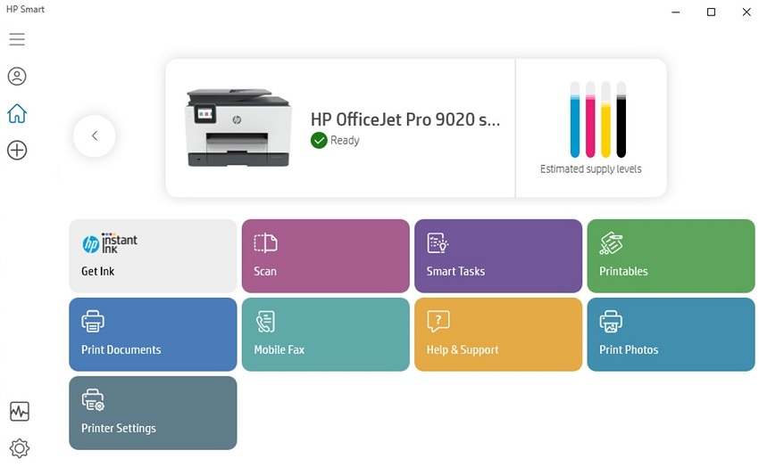 hp smart officejet 9020