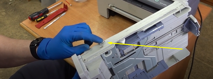 чистка тормозной площадки Samsung SCX-4200 2