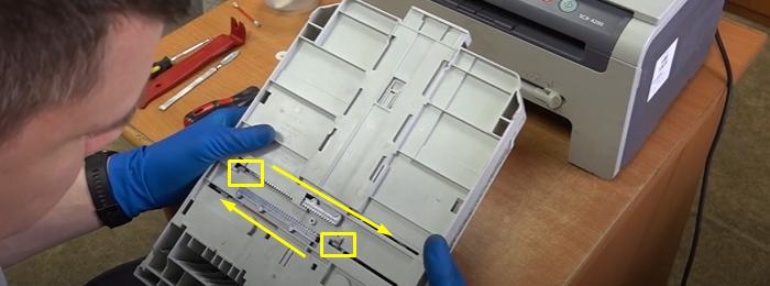 чистка тормозной площадки Samsung SCX-4200 4