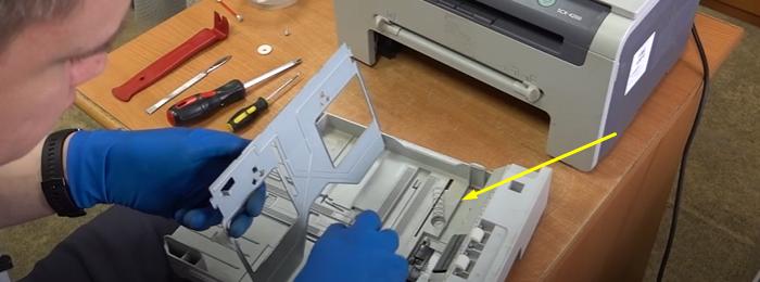 чистка тормозной площадки Samsung SCX-4200 5