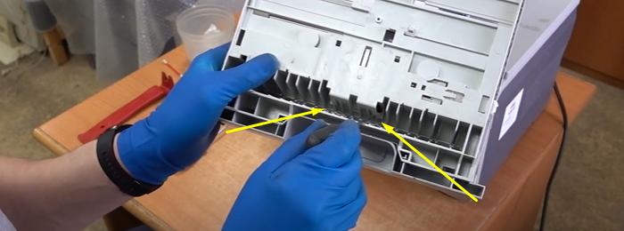 чистка тормозной площадки Samsung SCX-4200 6