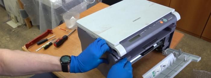 чистка тормозной площадки Samsung SCX-4200 3
